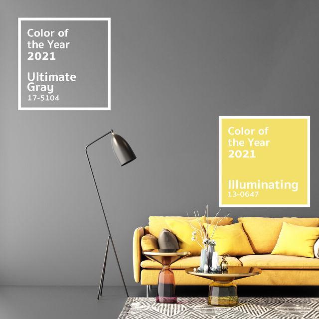 Color of the year 2021 - Giallo e Grigio